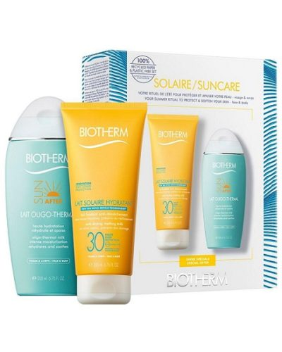 Biotherm Lait Solaire Hydratant SPF30 & Lait Oligo-Thermal After Sun Milk Set