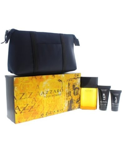 Azzaro Pour Homme Eau de Toilette & Shower Gel & After Shave & Pouch Set